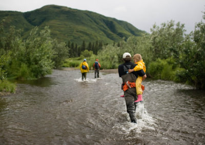 Scientists wading in Pick Creek, Lake Nerka | Jonny Armstrong